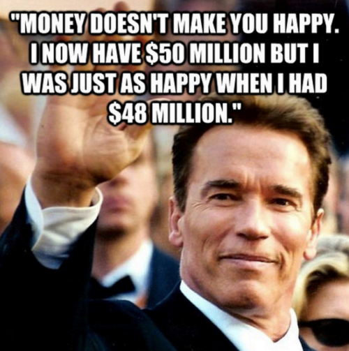 Money does not make you happier